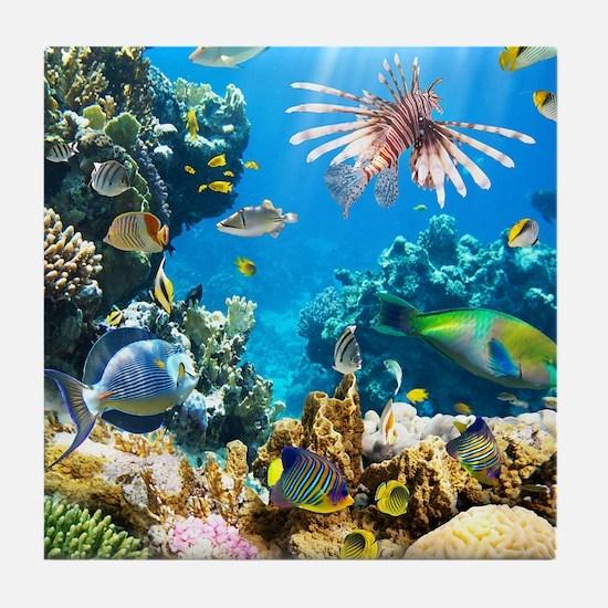 Sea Life Tile Coaster