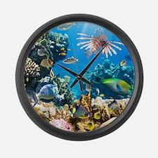 Sea Life Large Wall Clock