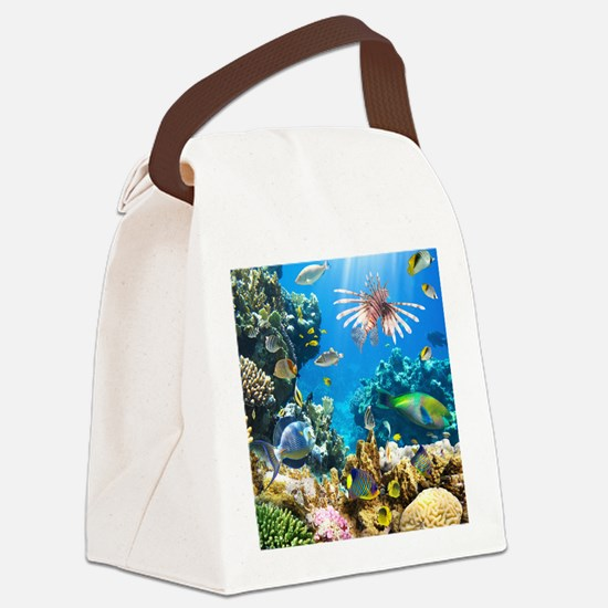 Sea Life Canvas Lunch Bag