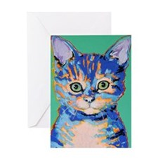 small cat Greeting Card