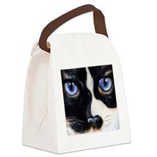 Funny Face post card Canvas Lunch Bag