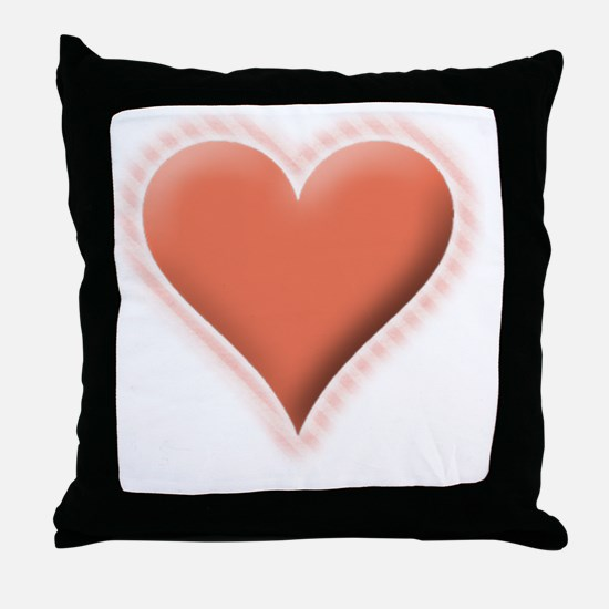 Valentines Day Hearts Pink Throw Pillow