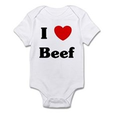 I love Beef Infant Bodysuit