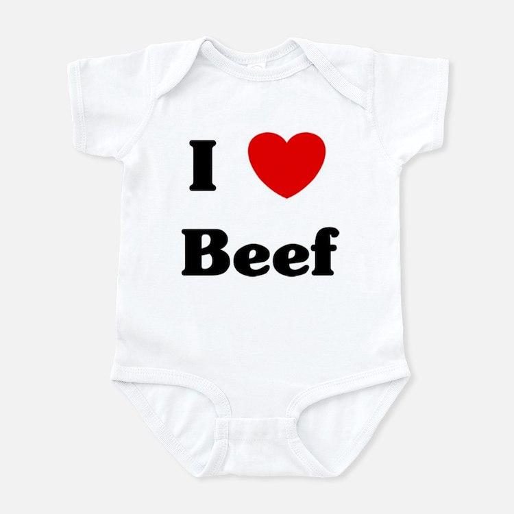 I love Beef Infant Bodysuit