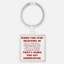 Christmas Underwear Square Keychain