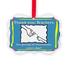 Thank you Teachers Ornament