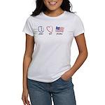 Peace, Love Women's T-Shirt