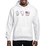 Peace, Love Hooded Sweatshirt