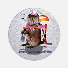 Decisions-Decisions-Groundhog Day Round Ornament