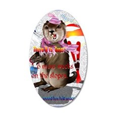 GREETING CARDS Groundhog Day 35x21 Oval Wall Decal