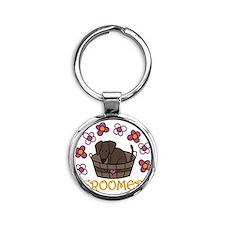 Groomer Round Keychain