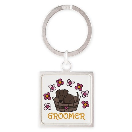 Groomer Square Keychain