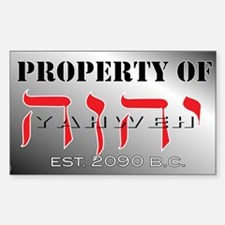 property of YHWH Decal