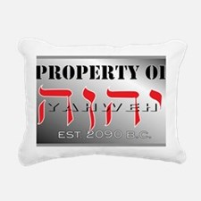 property of YHWH Rectangular Canvas Pillow