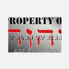 property of YHWH Rectangle Magnet