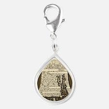 Philadelphia Liberty Bell Silver Teardrop Charm