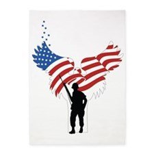 Soldiers Angel Flag 5'x7'Area Rug