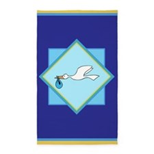 Stork Delivery 3'X5' Area Rug