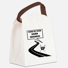 None of Your Damn Business Canvas Lunch Bag