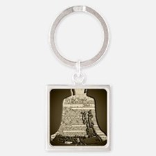 Philadelphia Liberty Bell Square Keychain