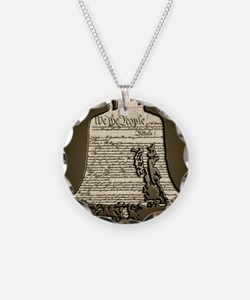 Philadelphia Liberty Bell Necklace Circle Charm