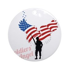 Soldier's Angel Round Ornament
