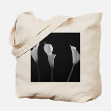Black and White Lilies Tote Bag