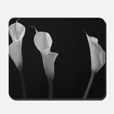 Black and White Lilies Mousepad