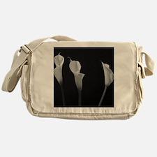 Black and White Lilies Messenger Bag