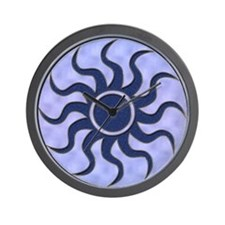sun blue Wall Clock