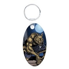 Werewolf Aluminum Oval Keychain