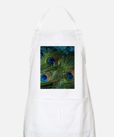 Green Peacock Feathers Apron