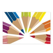 Color Pencils Postcards (Package of 8)
