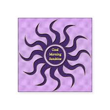 "sun purple gm Square Sticker 3"" x 3"""