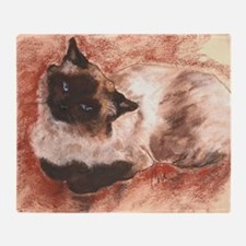 Spirit Ragdoll Siamese Cat Throw Blanket
