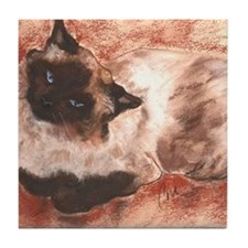 Spirit Ragdoll Siamese Cat Tile Coaster