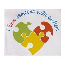 Someone With Autism Throw Blanket