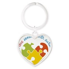 Someone With Autism Heart Keychain