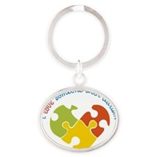 Someone With Autism Oval Keychain