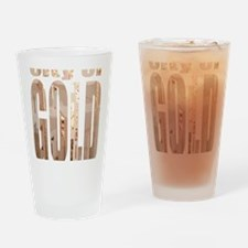 city of gold logo Drinking Glass