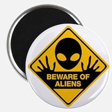Beware of Aliens Magnet