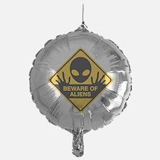 Beware of Aliens Balloon