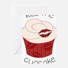 Kiss Me Cupcake Greeting Card
