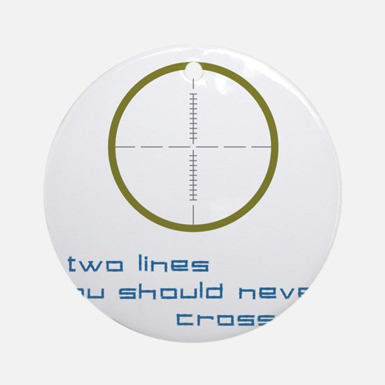 Two Lines Round Ornament