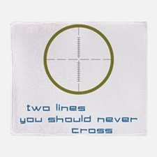 Two Lines Throw Blanket