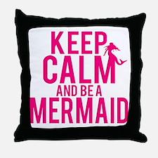BE A MERMAID Throw Pillow