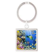 Sea Life Square Keychain
