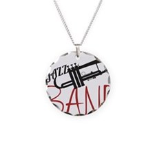 Jazz Band Necklace Circle Charm