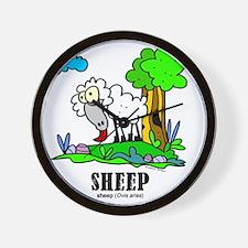 Cartoon Sheep by Lorenzo Wall Clock