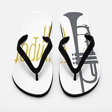 Trumpet Man Flip Flops